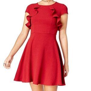 B Darlin Dresses - NWT B Darlin Juniors' Ruffled A-Line Dress